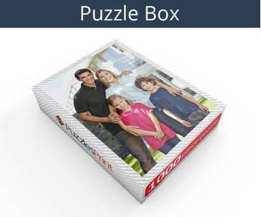 1000 piece personalized photo jigsaw puzzles box