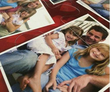 15 piece photo collage puzzle