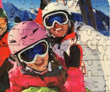 221 piece wooden photo jigsaw