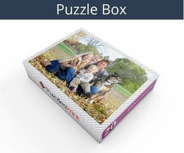 20 piece personalized photo jigsaw puzzles box