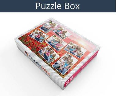 25 piece photo collage jigsaw puzzle box