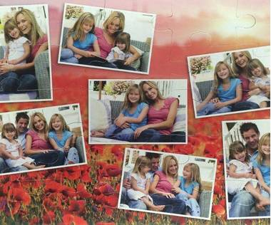 25 piece photo collage jigsaw puzzle