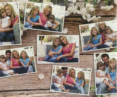 63 piece photo collage jigsaw puzzle