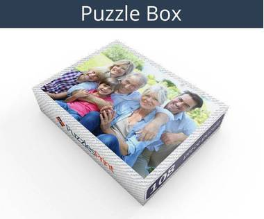 108 piece personalized photo jigsaw puzzles box
