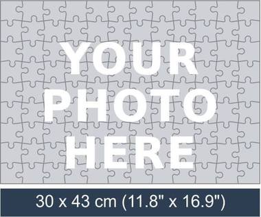 108 piece personalized photo jigsaw puzzle