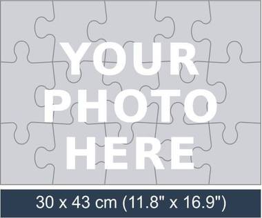 15 piece personalized photo jigsaw puzzle