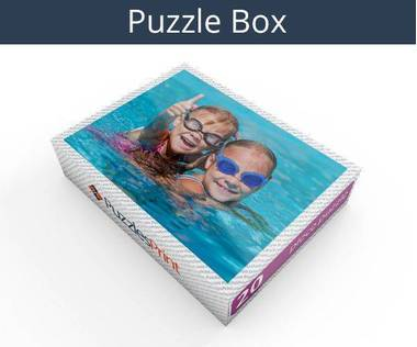 20 piece magnetic photo jigsaw puzzle box