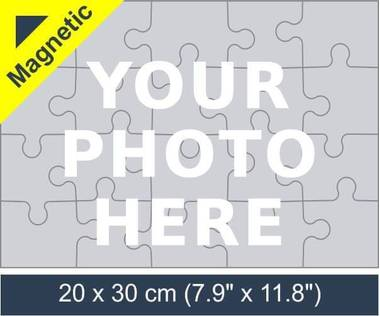 20 piece magnetic photo jigsaw puzzle