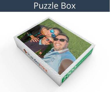2000 piece personalized photo jigsaw puzzles box