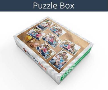 2000 piece photo collage jigsaw puzzle box