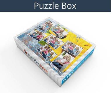 500 piece photo collage jigsaw puzzle box