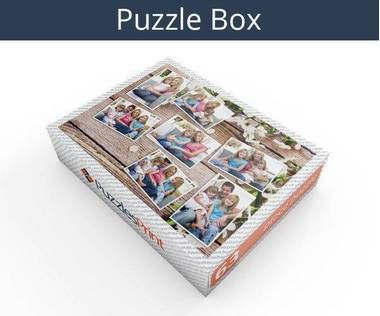 63 piece photo collage jigsaw puzzle box
