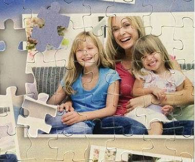260 piece photo collage