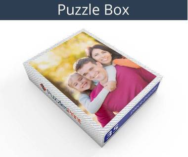 35 piece personalized photo jigsaw puzzles box