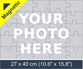 25 piece magnetic photo jigsaw puzzle