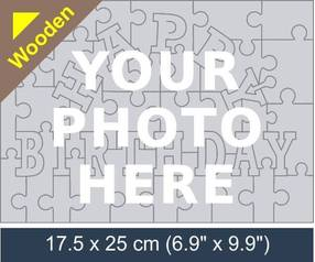Happy Birthday wooden photo jigsaw puzzle