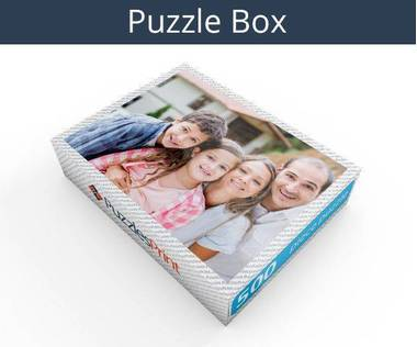 500 piece personalized photo jigsaw puzzles box