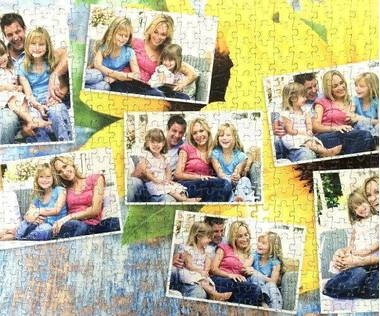 500 piece photo collage jigsaw puzzle