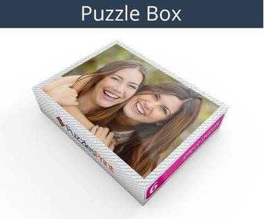 6 piece plastic photo puzzle box