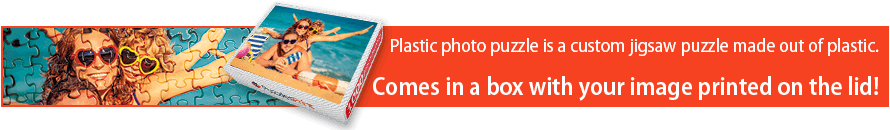 Plastic photo jigsaw