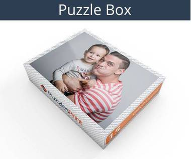 15 piece personalized photo jigsaw puzzles box