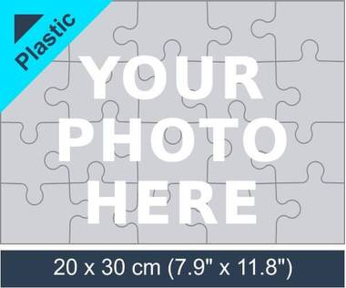 20 piece plastic photo jigsaw puzzle