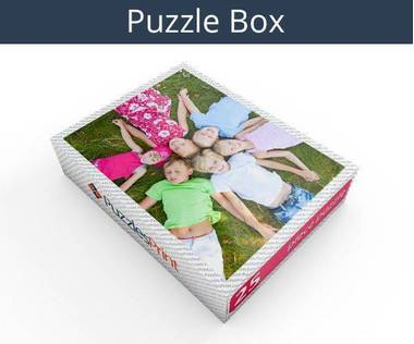 25 piece plastic photo puzzle box