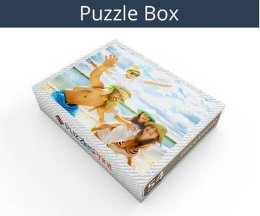 54 piece personalized photo jigsaw puzzles box