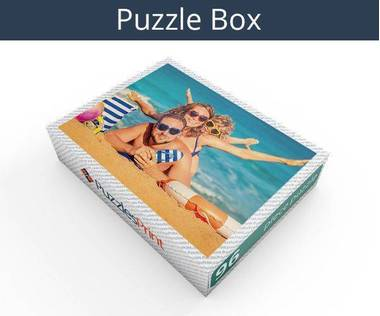 96 piece wooden photo jigsaw puzzle box