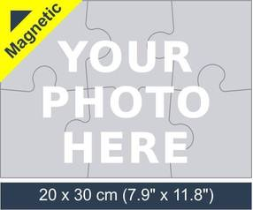 6 piece magnetic photo jigsaw puzzle