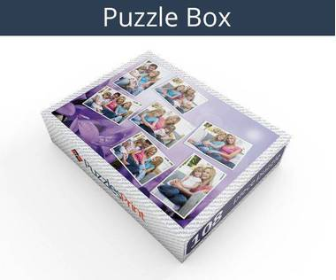 108 piece photo collage jigsaw puzzle box