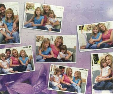 108 piece photo collage jigsaw puzzle