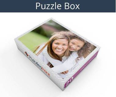 20 piece plastic photo puzzle box