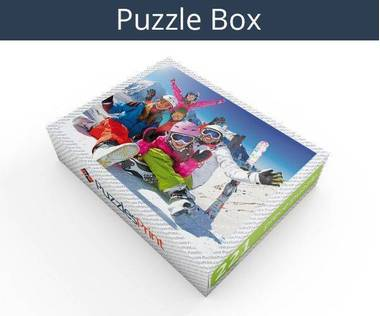221 piece wooden photo jigsaw puzzle box