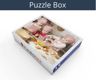 35 piece plastic photo puzzle box