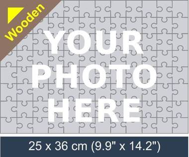 96 piece wooden photo jigsaw puzzle