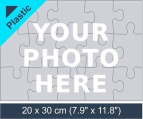 15 piece plastic photo jigsaw puzzle