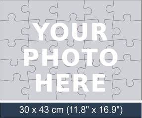 25 piece personalized photo jigsaw puzzle