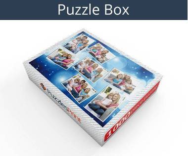 1000 piece photo collage jigsaw puzzle box