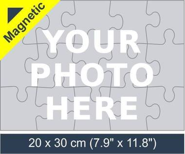 15 piece magnetic photo jigsaw puzzle
