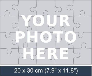 20 piece personalized photo jigsaw puzzle