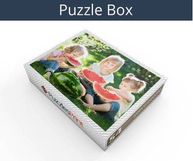 54 piece plastic photo puzzle box