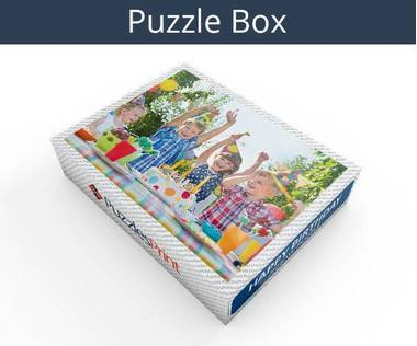 Happy Birthday wooden photo jigsaw puzzle box